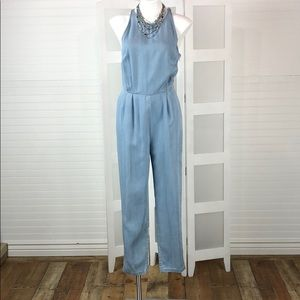 Women's Blue Denim Jumpsuit
